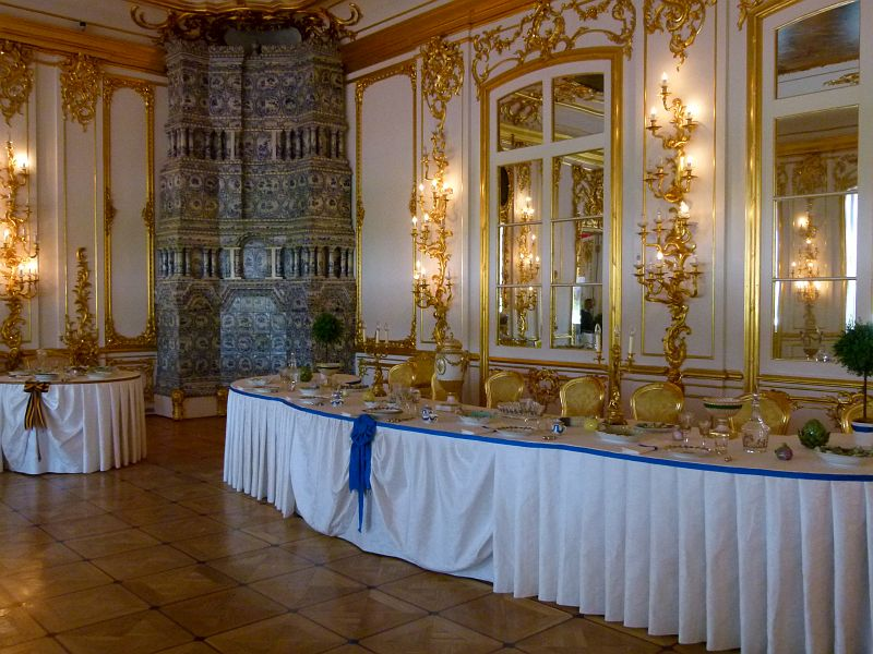 777 photos russie 2011 11 st petersbourg tsarskoie selo 13 for Grande salle a manger