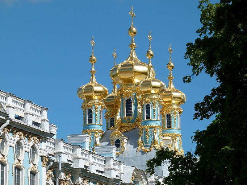 30 Tsarskoie Selo Palais Catherine Bulbes de la chapelle.JPG